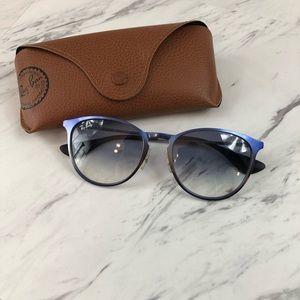 Ray-Ban Erika Blue Metal Frame Sunglasses